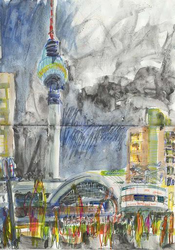 Berlin Alexander Platz sketch